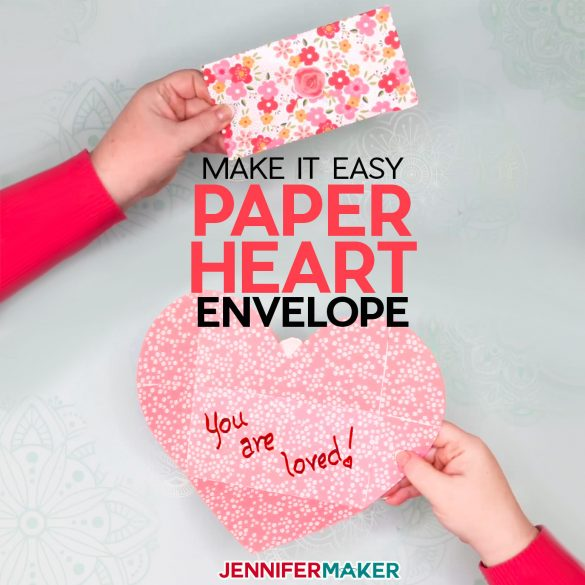 Easy Paper Heart Envelope Filled with Love!
