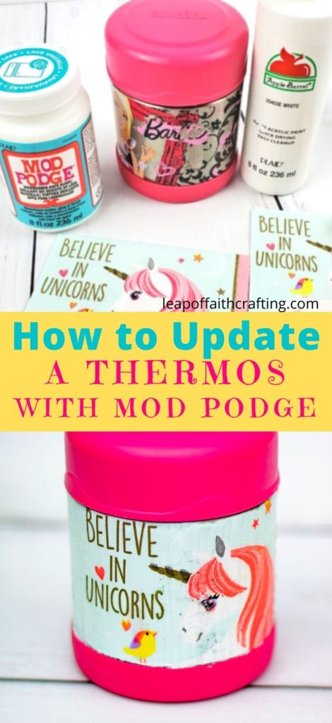 DIY Mod Podge Project:  Upcycle an Old Thermos!