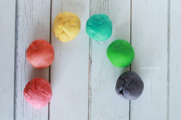 Rainbow Playdough Recipe