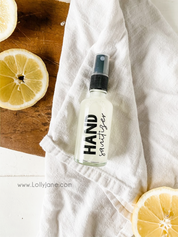DIY: Natural Hand Sanitizer Spray Recipe