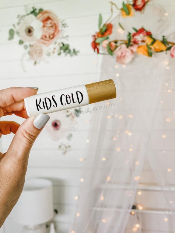 DIY: Kids Cold + Cough Roller Ball Blend Recipe