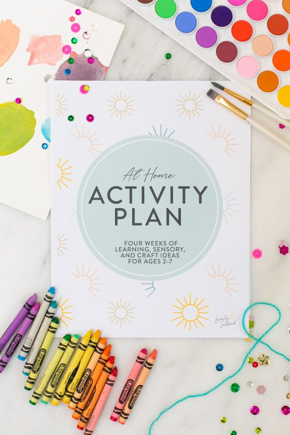 At Home Activities for Kids eBook!