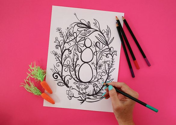 Easter Colouring Page by Madeleline Stamer