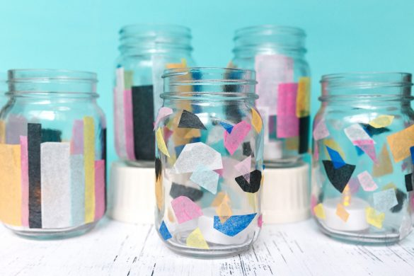 How to Make Colorful Stained Glass DIY Tissue Paper Lanterns