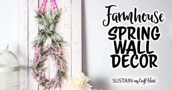 Pretty XO Spring Flower Wall Decor