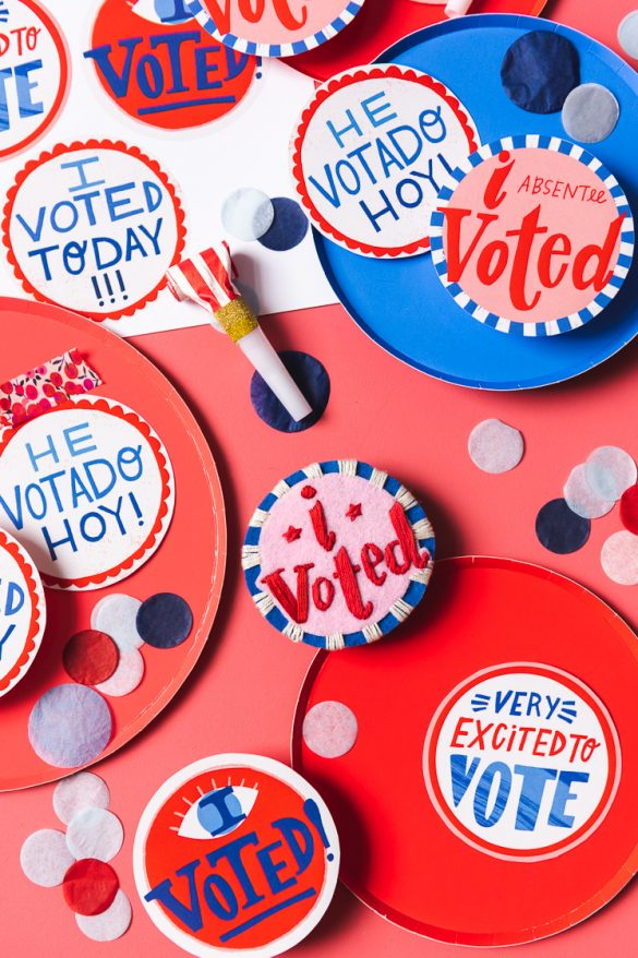I Voted! printables and embroidery pattern