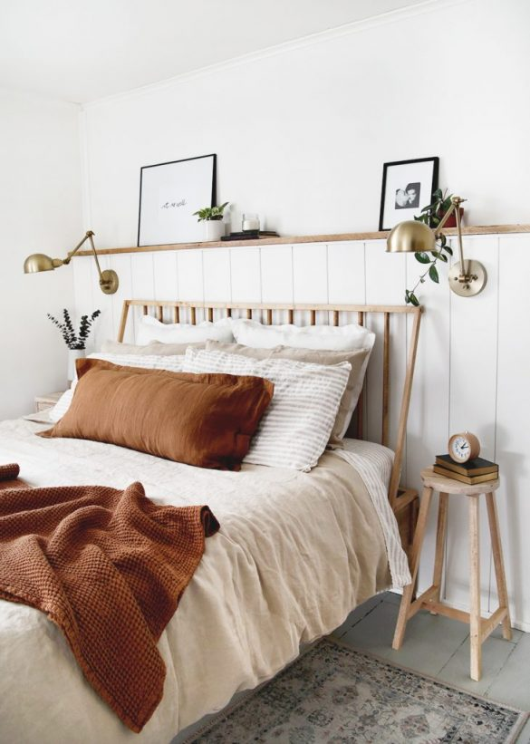 DIY Dowel Headboard