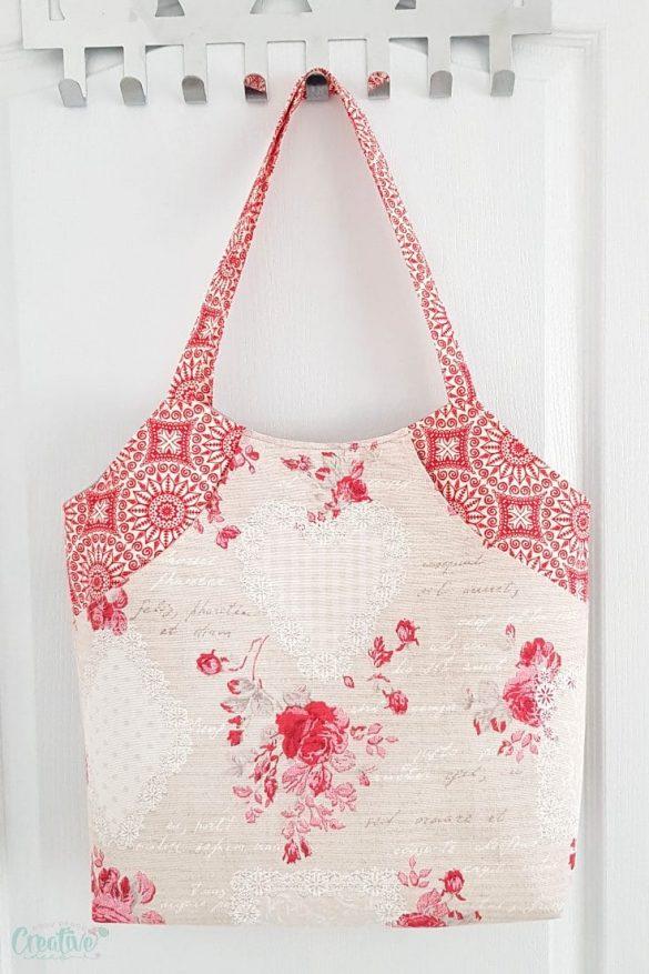 Deep front pocket tote bag pattern