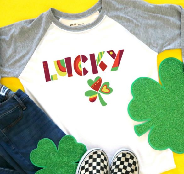 lucky cut file with stripflock Heat transfer vinyl