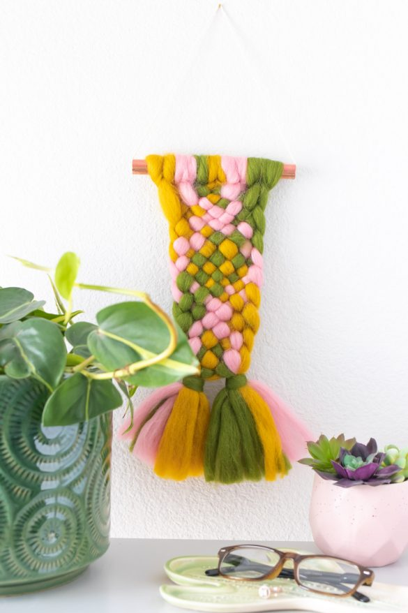 Easy Weaving: 10-Minute Wall Hanging DIY