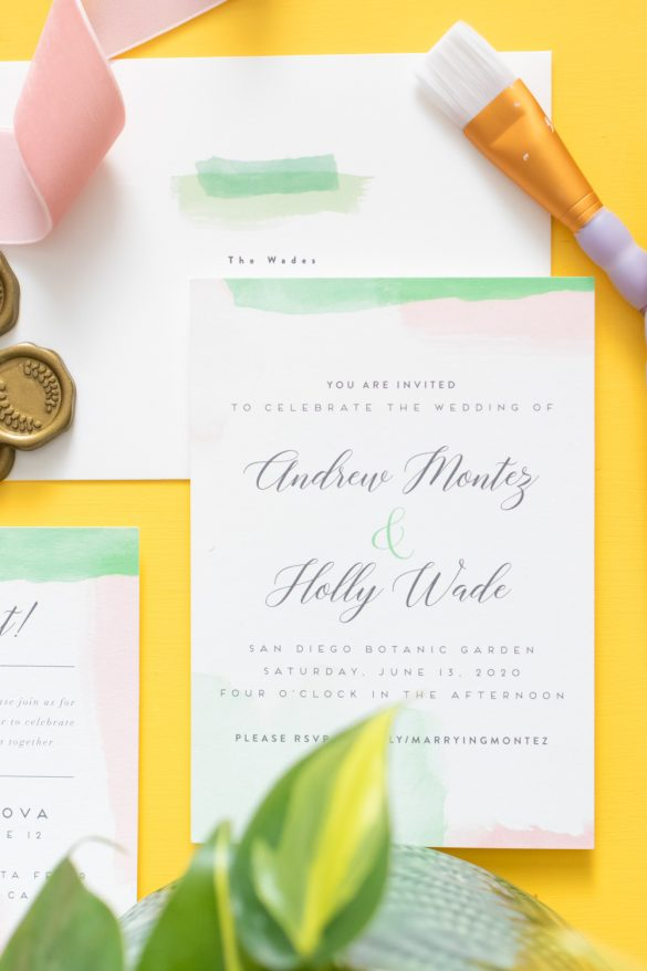 Our Watercolor Wedding Invitations with Minted
