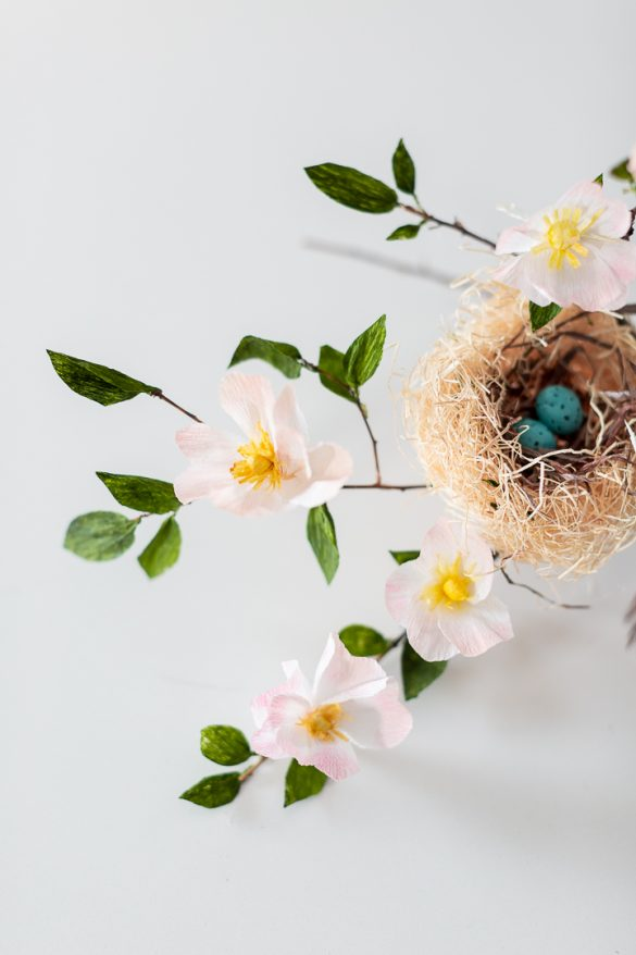 Crepe Paper Spring Blossoms
