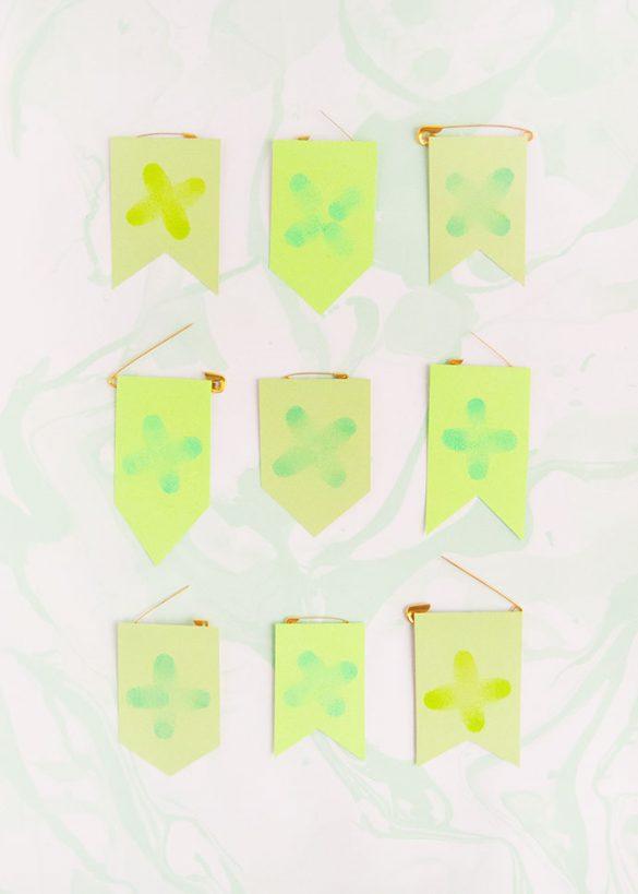 St Patrick's Day Fingerprint Pins