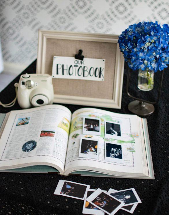 DIY Atlas Wedding Guest Photo Book