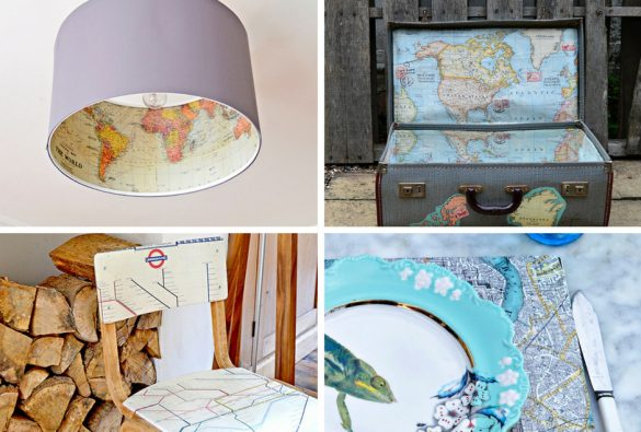 Map Decor Crafts To Make Your Home Unique