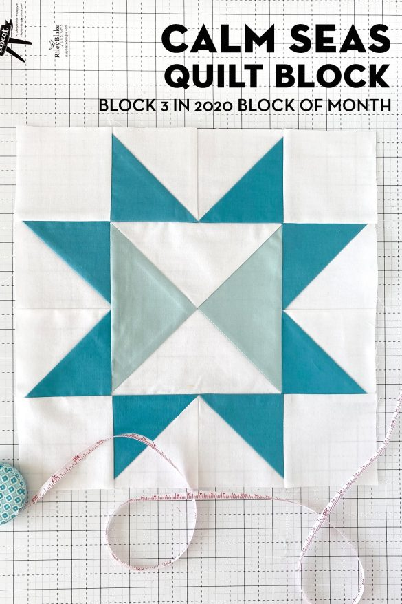 Calm Seas; Block 3 of Choose Happiness Quilt Along