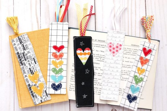 Scrappy Fabric Bookmark Tutorial