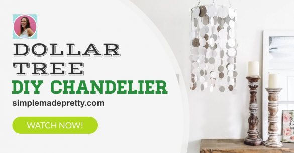 $1 Boho Chandelier DIY