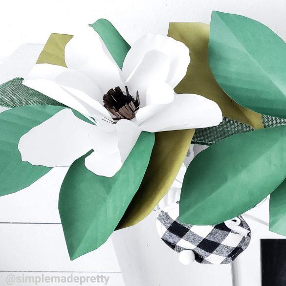 DIY Dollar Tree Magnolia Garland