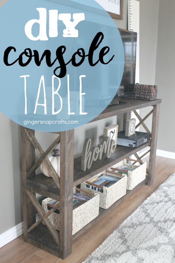 DIY Console Table {tutorial}