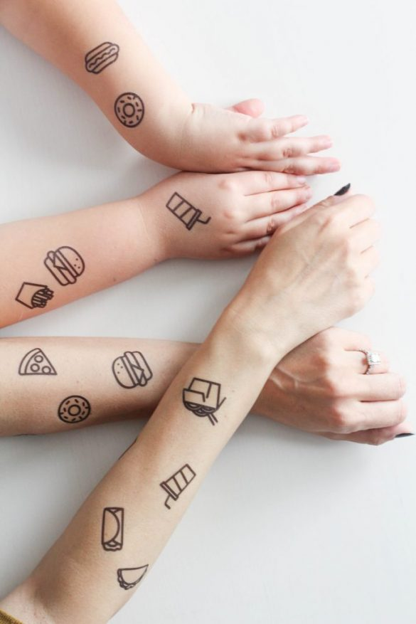 Printable Temporary Take Out Tattoos