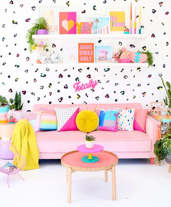 DIY Leopard Print Wall with Cricut Joy