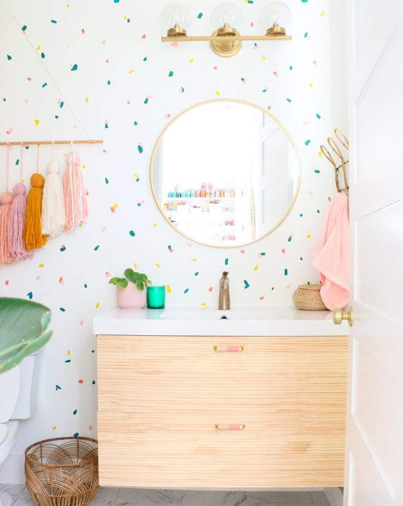 How to Paint a Terrazzo Confetti Accent Wall