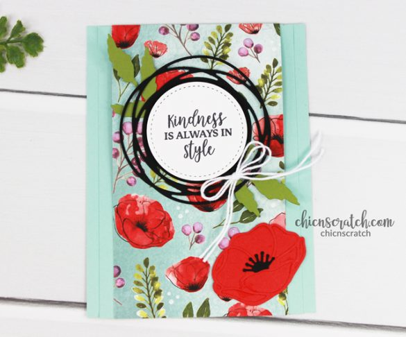Peaceful Poppies Fun Fold Card