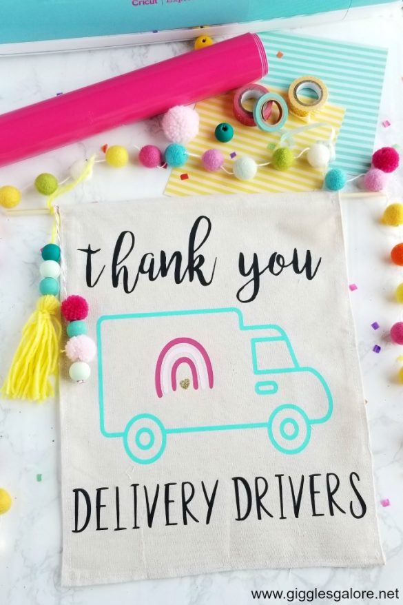 DIY Thank You Sign for Delivery Drivers