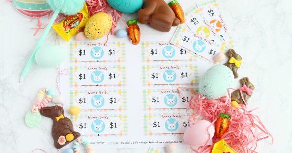 Easter Bunny Bucks Printable