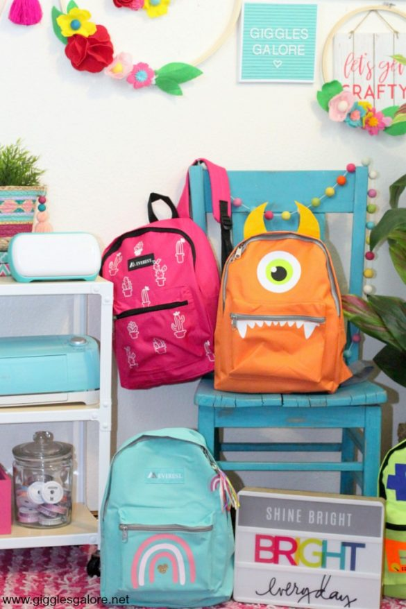 Customized Foster Care Backpacks with Cricut