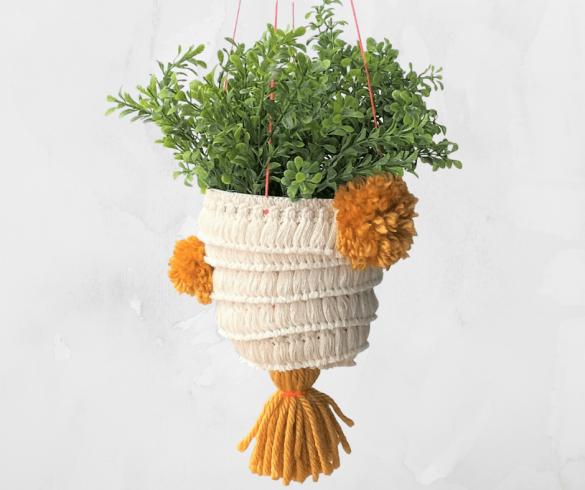 DIY Hanging Boho Planter