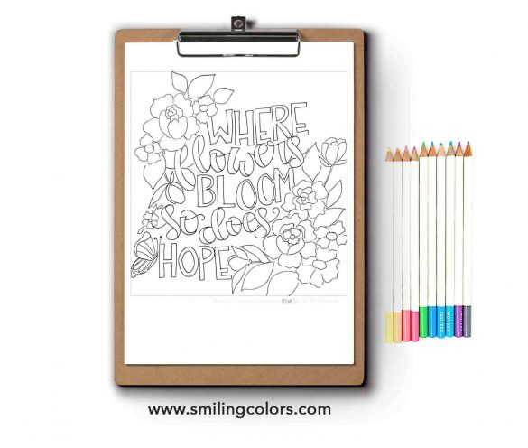 Inspirational Coloring Page FREE Printable Download