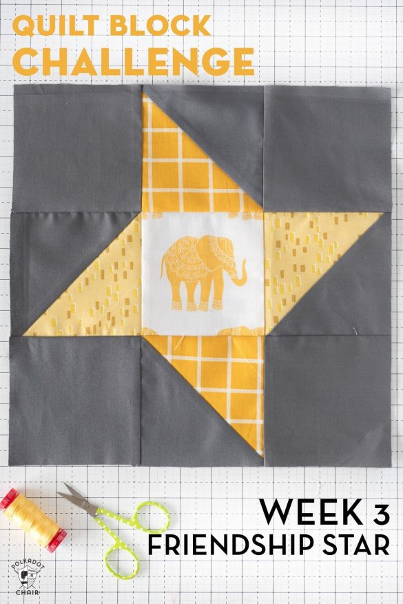 Friendship Star Quilt Block Tutorial for the Block Challenge