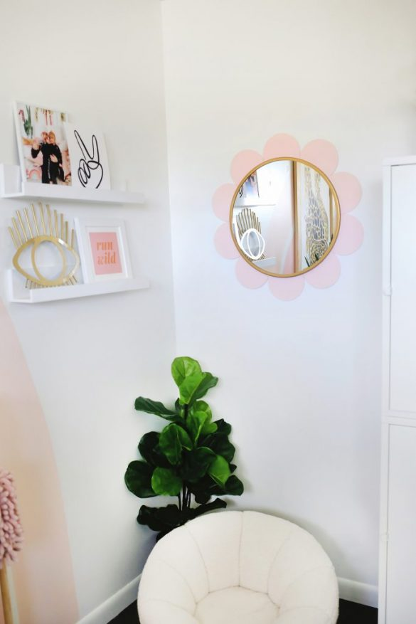 Flower Mirror DIY