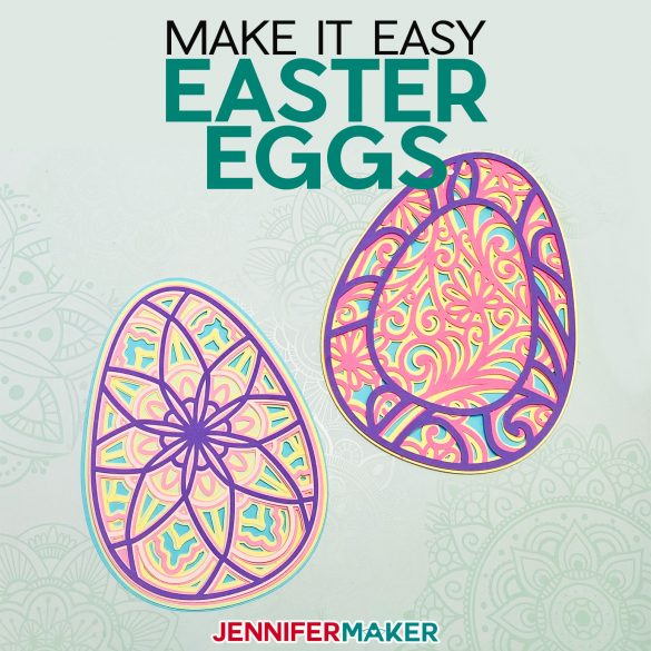 3D Layered Easter Egg Mandala-Style & Filigee Designs