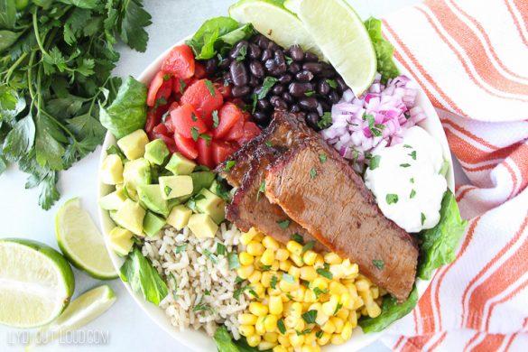 Mexican BBQ Brisket Burrito Bowl Recipe