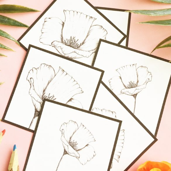 Free Coloring Page – California Poppy