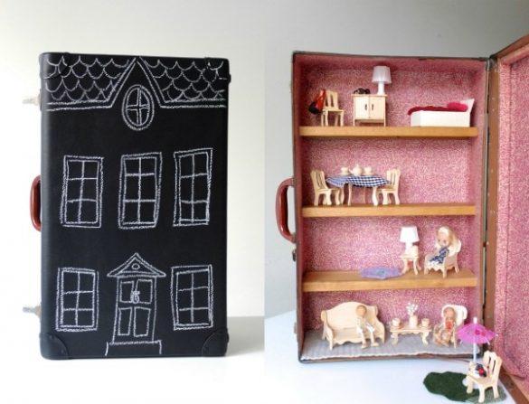 Upcycle Style: Suitcase Dollhouse
