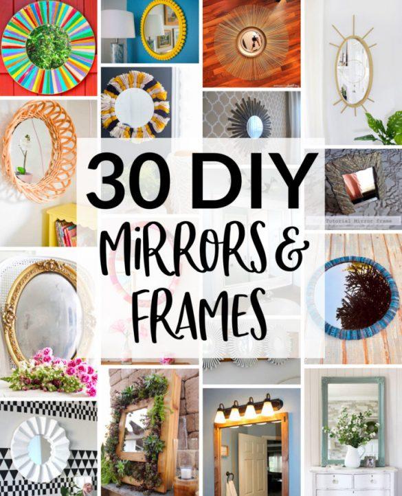 30 DIY Mirror Frames