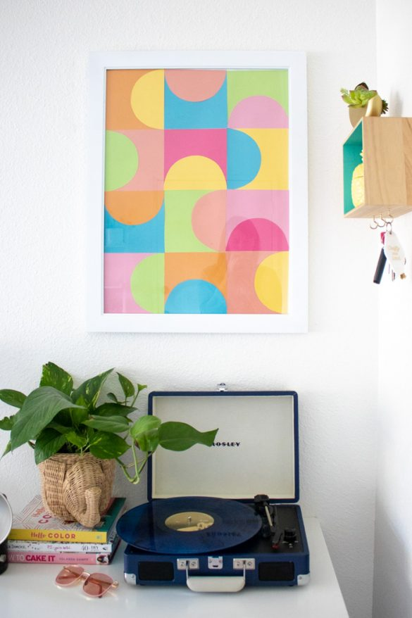 Simple DIY Geometric Paper Wall Art