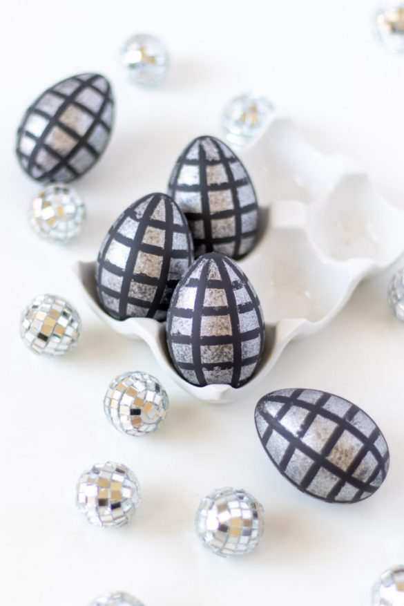 DIY Disco Ball Easter Eggs