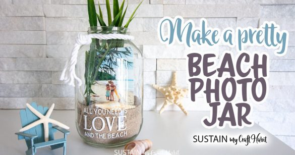 Beach Photo Display Jar