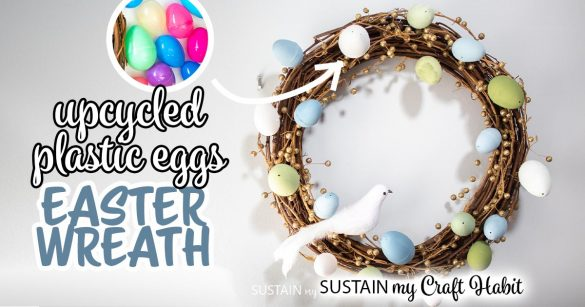 DIY Easter Wreath with Chalky Painted Plastic Eggs