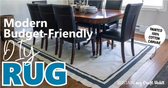 Making a Simple Modern Canvas DIY Rug