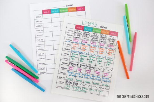 Kids Weekly Planner Templates