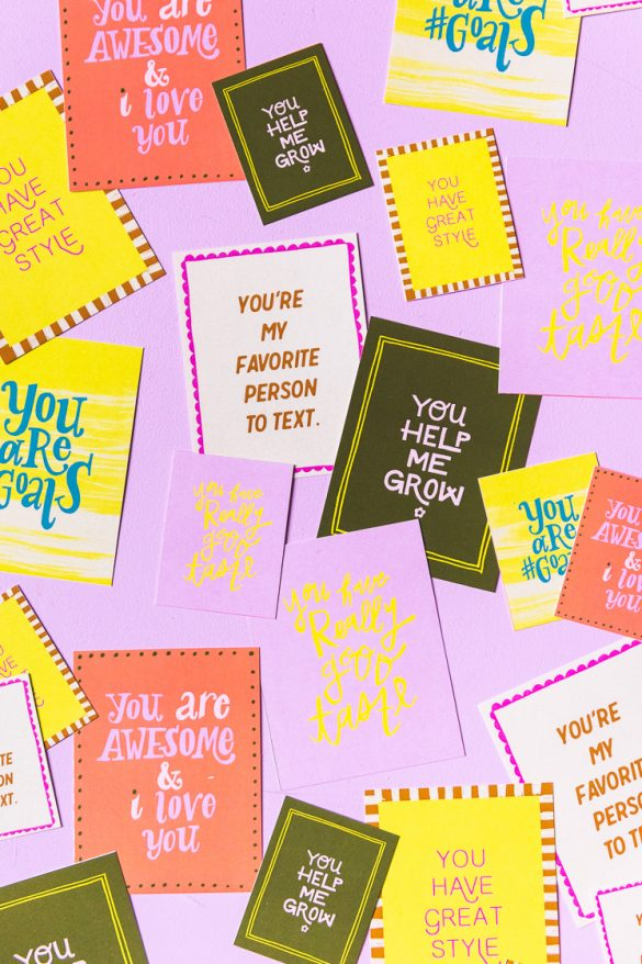 Compliment Cards to Spread the Joy (not the germs)