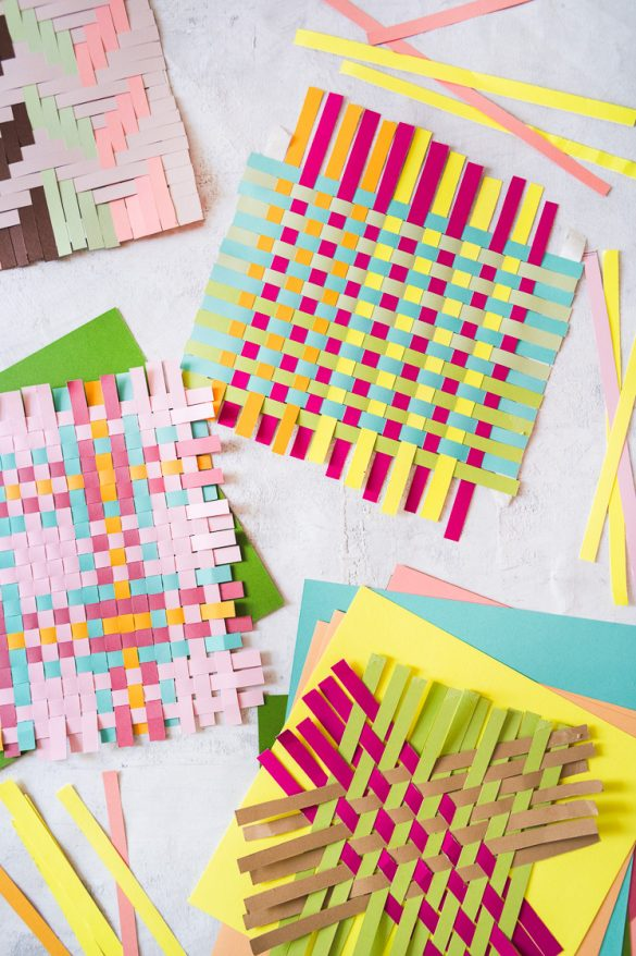 Quarantine Creativity: Paper Weaving from Craft the Rainbow