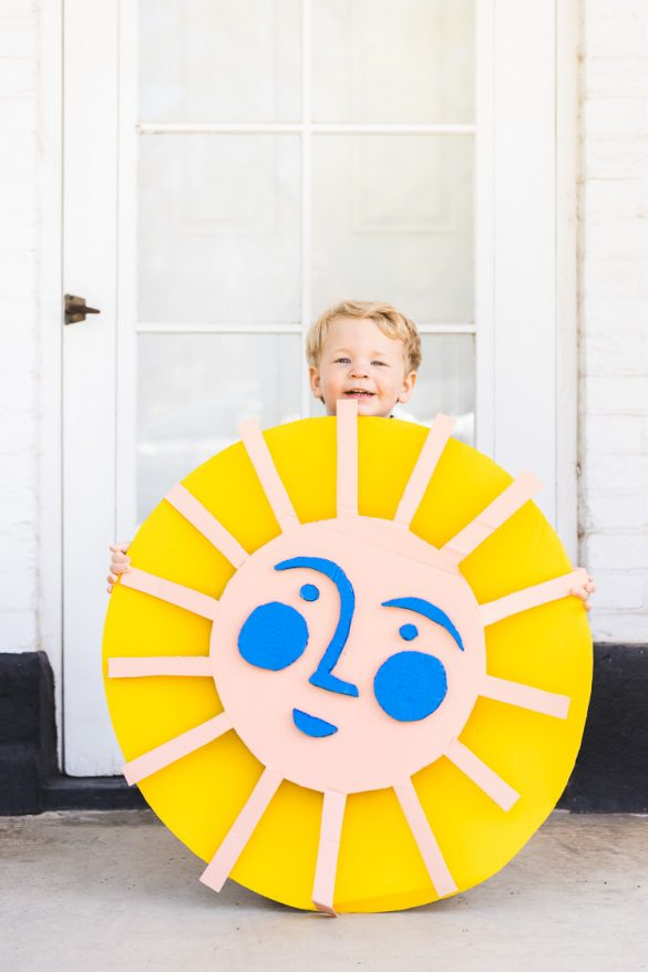 Earth Day: Recycled cardboard sun