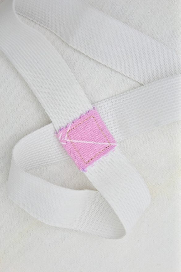 Quick sewing tip: Elastic join tip to reduce bulkiness or extend short elastics
